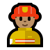 👨🏽‍🚒 man firefighter: medium skin tone Emoji on Windows Platform