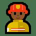 👨🏾🚒 man firefighter: medium-dark skin tone Emoji on Windows Platform