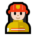 👩🏻‍🚒 woman firefighter: light skin tone Emoji on Windows Platform