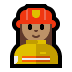 👩🏽‍🚒 woman firefighter: medium skin tone Emoji on Windows Platform