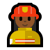 👩🏾🚒 woman firefighter: medium-dark skin tone Emoji on Windows Platform