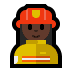 👩🏿‍🚒 woman firefighter: dark skin tone Emoji on Windows Platform