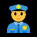 👮 police officer Emoji on Windows Platform