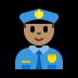 👮🏽 police officer: medium skin tone Emoji on Windows Platform