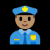 👮🏽♂️ man police officer: medium skin tone Emoji on Windows Platform