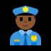 👮🏾‍♂️ man police officer: medium-dark skin tone Emoji on Windows Platform