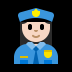 👮🏻‍♀️ woman police officer: light skin tone Emoji on Windows Platform