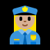 👮🏼‍♀️ woman police officer: medium-light skin tone Emoji on Windows Platform