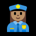 👮🏽‍♀️ woman police officer: medium skin tone Emoji on Windows Platform