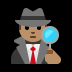 🕵🏽‍♂️ man detective: medium skin tone Emoji on Windows Platform