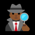 🕵🏾‍♂️ man detective: medium-dark skin tone Emoji on Windows Platform