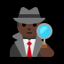 🕵🏿‍♂️ man detective: dark skin tone Emoji on Windows Platform