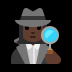 🕵🏿‍♀️ woman detective: dark skin tone Emoji on Windows Platform