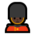 💂🏿 guard: dark skin tone Emoji on Windows Platform