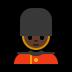 💂🏿♂️ man guard: dark skin tone Emoji on Windows Platform