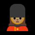 💂🏽♀️ woman guard: medium skin tone Emoji on Windows Platform