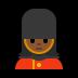 💂🏾♀️ woman guard: medium-dark skin tone Emoji on Windows Platform