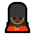 💂🏿‍♀️ woman guard: dark skin tone Emoji on Windows Platform