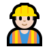 👷🏻 construction worker: light skin tone Emoji on Windows Platform