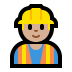👷🏼 construction worker: medium-light skin tone Emoji on Windows Platform