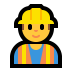 👷‍♂️ man construction worker Emoji on Windows Platform