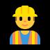 👷♂️ man construction worker Emoji on Windows Platform