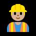 👷🏼♂️ Medium Light Skin Tone Male Construction Worker Emoji on Windows Platform