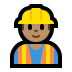 👷🏽‍♂️ man construction worker: medium skin tone Emoji on Windows Platform