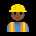 👷🏾♂️ man construction worker: medium-dark skin tone Emoji on Windows Platform