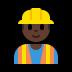 👷🏿♂️ man construction worker: dark skin tone Emoji on Windows Platform