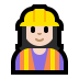 👷🏻‍♀️ woman construction worker: light skin tone Emoji on Windows Platform