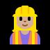 👷🏼♀️ woman construction worker: medium-light skin tone Emoji on Windows Platform