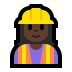 👷🏿‍♀️ woman construction worker: dark skin tone Emoji on Windows Platform