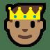 🤴🏽 prince: medium skin tone Emoji on Windows Platform