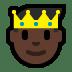 🤴🏿 prince: dark skin tone Emoji on Windows Platform