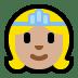 👸🏼 princess: medium-light skin tone Emoji on Windows Platform
