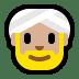 👳🏼 person wearing turban: medium-light skin tone Emoji on Windows Platform