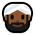 👳🏾 person wearing turban: medium-dark skin tone Emoji on Windows Platform