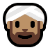 👳🏽‍♂️ man wearing turban: medium skin tone Emoji on Windows Platform