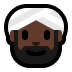 👳🏿‍♂️ man wearing turban: dark skin tone Emoji on Windows Platform