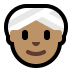 👳🏽‍♀️ woman wearing turban: medium skin tone Emoji on Windows Platform