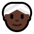 👳🏿‍♀️ woman wearing turban: dark skin tone Emoji on Windows Platform