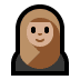 🧕🏼 woman with headscarf: medium-light skin tone Emoji on Windows Platform