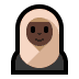 🧕🏿 woman with headscarf: dark skin tone Emoji on Windows Platform