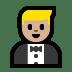 🤵🏼 man in tuxedo: medium-light skin tone Emoji on Windows Platform