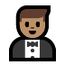 🤵🏽 man in tuxedo: medium skin tone Emoji on Windows Platform