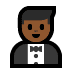 🤵🏾 man in tuxedo: medium-dark skin tone Emoji on Windows Platform