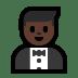 🤵🏿 man in tuxedo: dark skin tone Emoji on Windows Platform