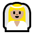 👰🏼 bride with veil: medium-light skin tone Emoji on Windows Platform