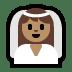 👰🏽 bride with veil: medium skin tone Emoji on Windows Platform